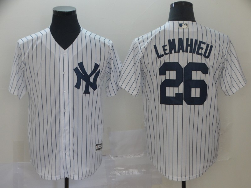 Yankees 26 DJ LeMahieu White Cool Base Jersey