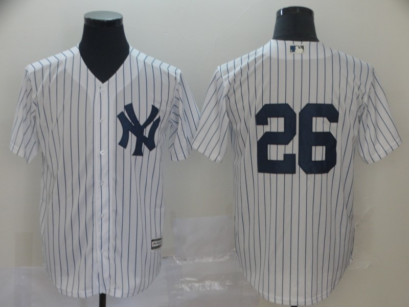Yankees 26 DJ LeMahieu White Cool Base Player Jersey