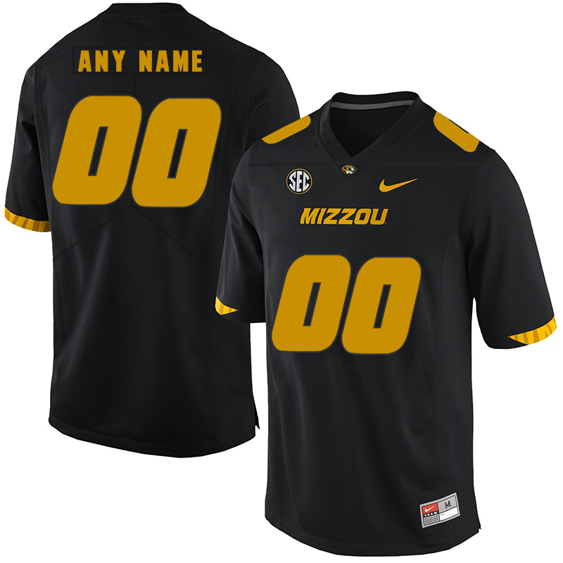 Missouri Tigers Customized Black Nike College Football Jersey