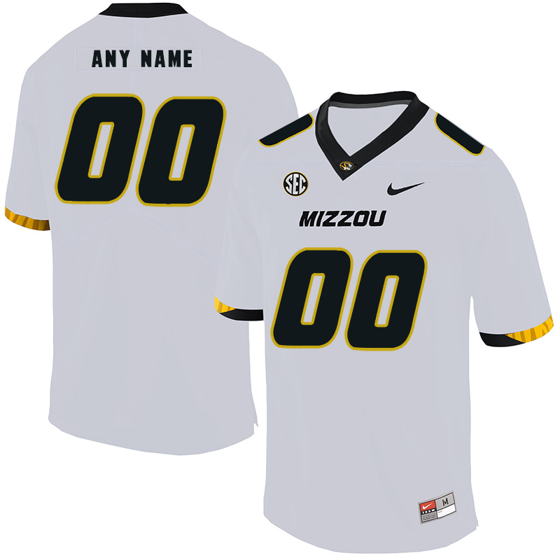 Missouri Tigers Customized White Nike College Football Jersey