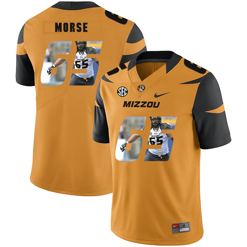 Missouri Tigers 65 Mitch Morse Gold Nike Fashion College Football Jersey