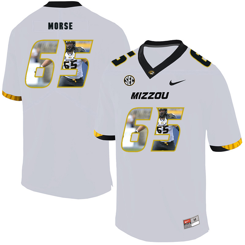 Missouri Tigers 65 Mitch Morse White Nike Fashion College Football Jersey