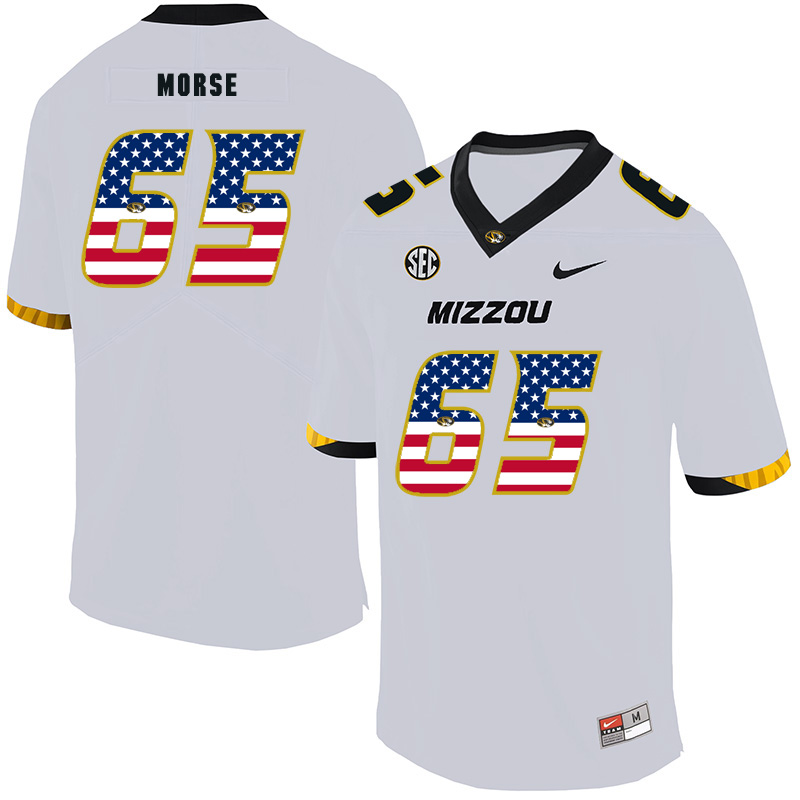 Missouri Tigers 65 Mitch Morse White USA Flag Nike College Football Jersey