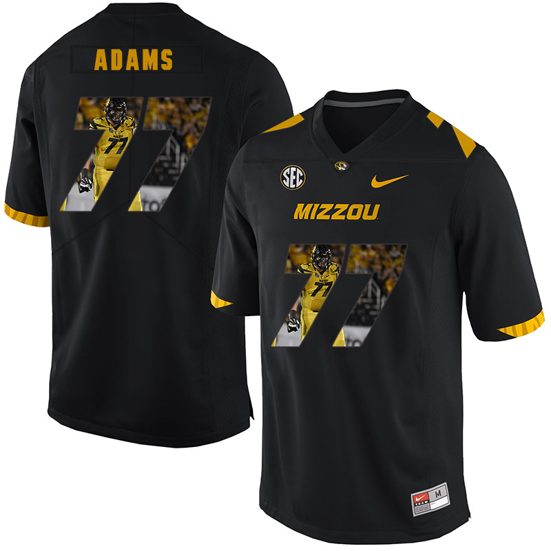 Missouri Tigers 77 Paul Adams Black Nike Fashion College Football Jersey