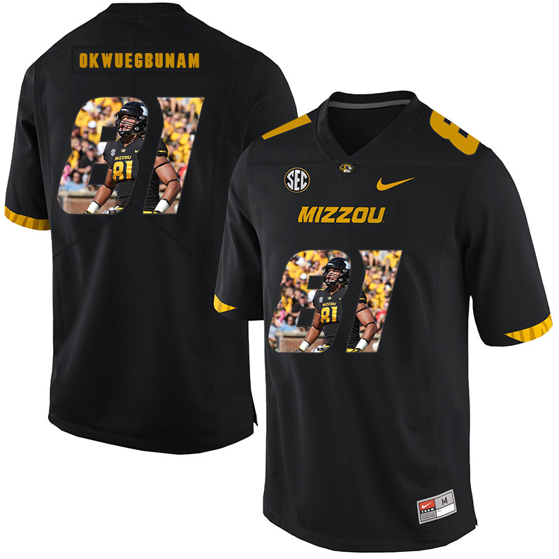 Missouri Tigers 81 Albert Okwuegbunam Black Nike Fashion College Football Jersey