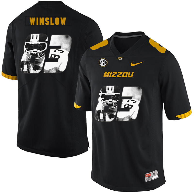 Missouri Tigers 83 Kellen Winslow Black Nike Fashion College Football Jersey