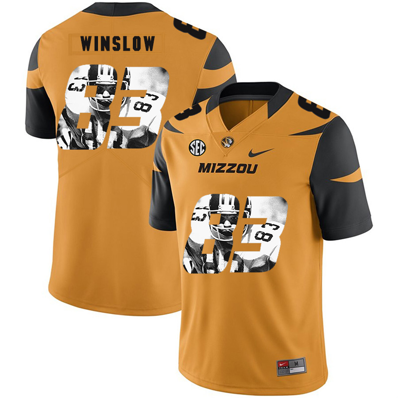 Missouri Tigers 83 Kellen Winslow Gold Nike Fashion College Football Jersey