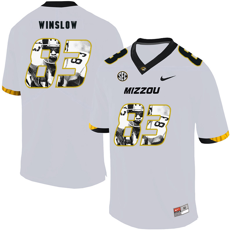 Missouri Tigers 83 Kellen Winslow White Nike Fashion College Football Jersey