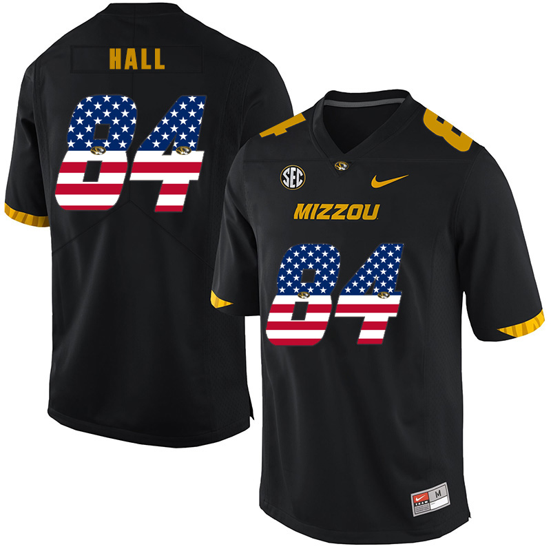 Missouri Tigers 84 Emanuel Hall Black USA Flag Nike College Football Jersey