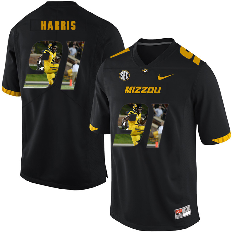 Missouri Tigers 91 Charles Harris Black Nike Fashion College Football Jersey