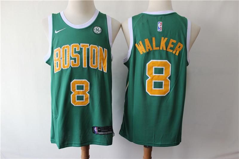 Celtics 8 Kemba Walker Green Earned Edition Nike Swingman Jersey