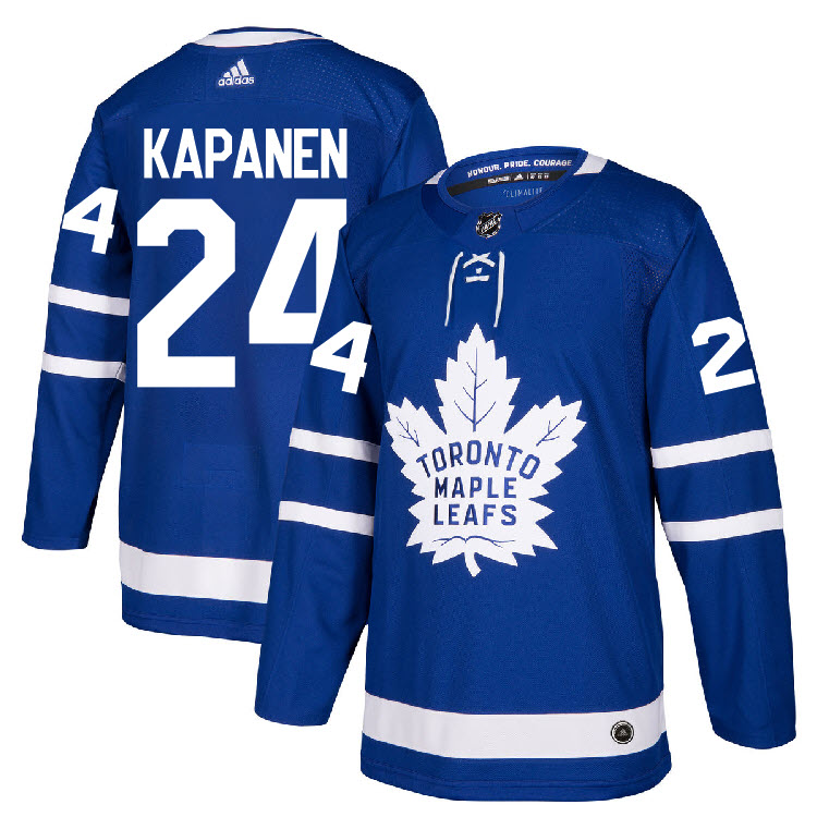 Maple Leafs 24?Kasperi Kapanen Blue Adidas Jersey