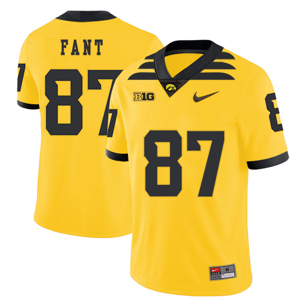 Iowa Hawkeyes 87 Noah Fant Yellow College Football Jersey