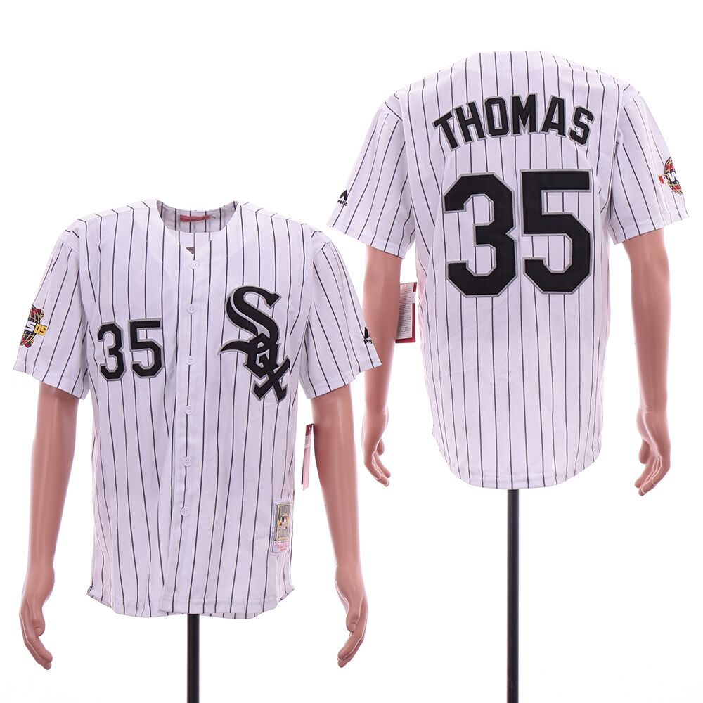 White Sox 35 Frank Thomas White 2005 World Series Cooperstown Collection Jersey