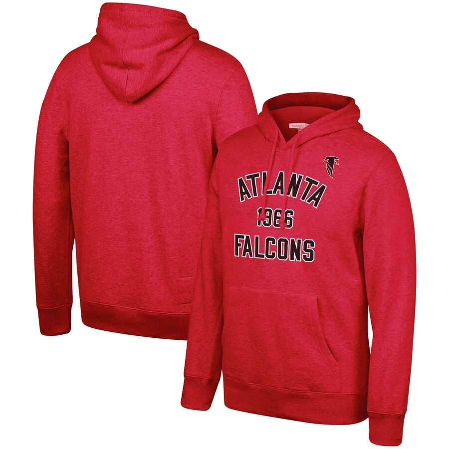 Atlanta Falcons Mitchell & Ness Team History Pullover Hoodie Red