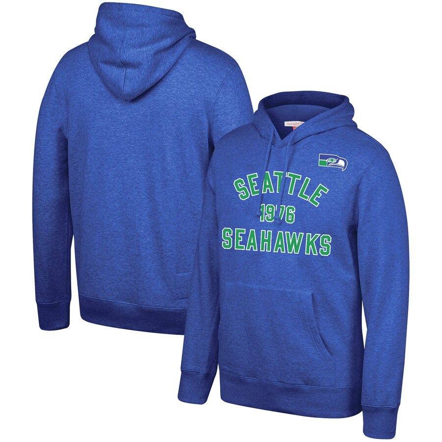 Seattle Seahawks Mitchell & Ness Team History Pullover Hoodie College Navy
