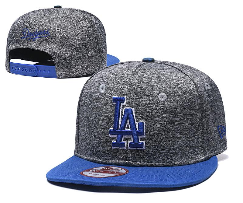 Dodgers Team Logo Gray Royal Adjustable Hat TX