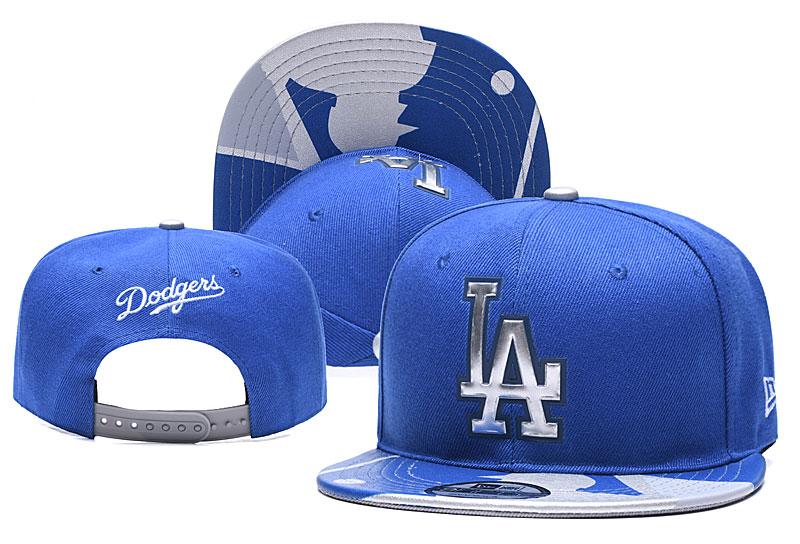 Dodgers Team Logo Royal Adjustable Hat YD