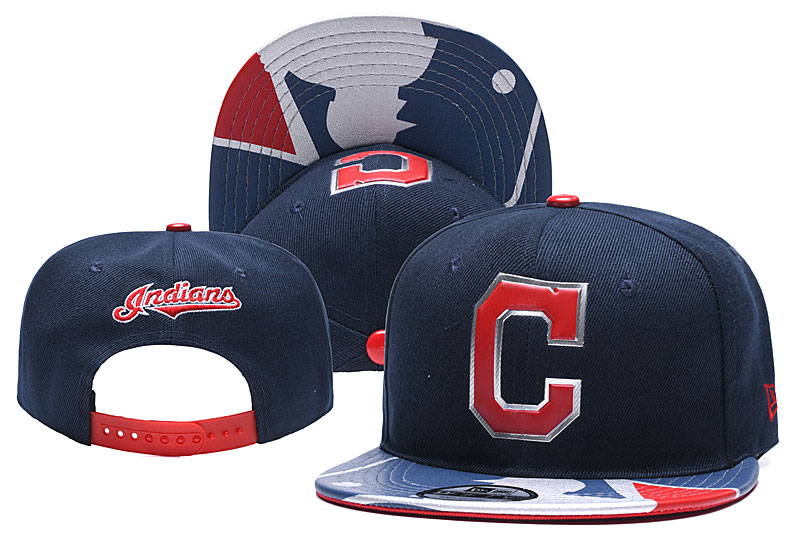 Indians Team Logo Navy Adjustable Hat YD