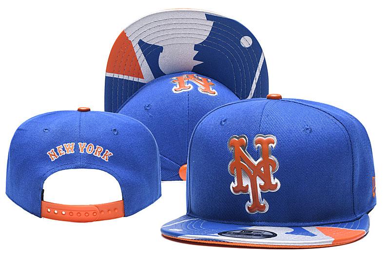 Mets Team Logo Blue Adjustable Hat YD