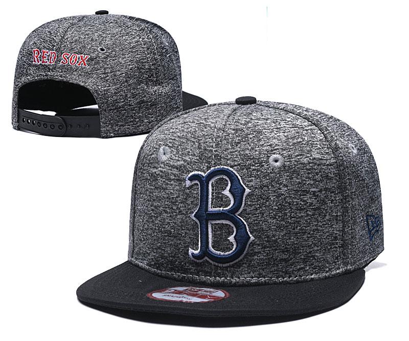 Red Sox Team Logo Gray Black Adjustable Hat TX