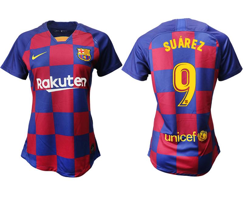 2019-20 Barcelona 9 SUAREZ Home Women Soccer Jersey