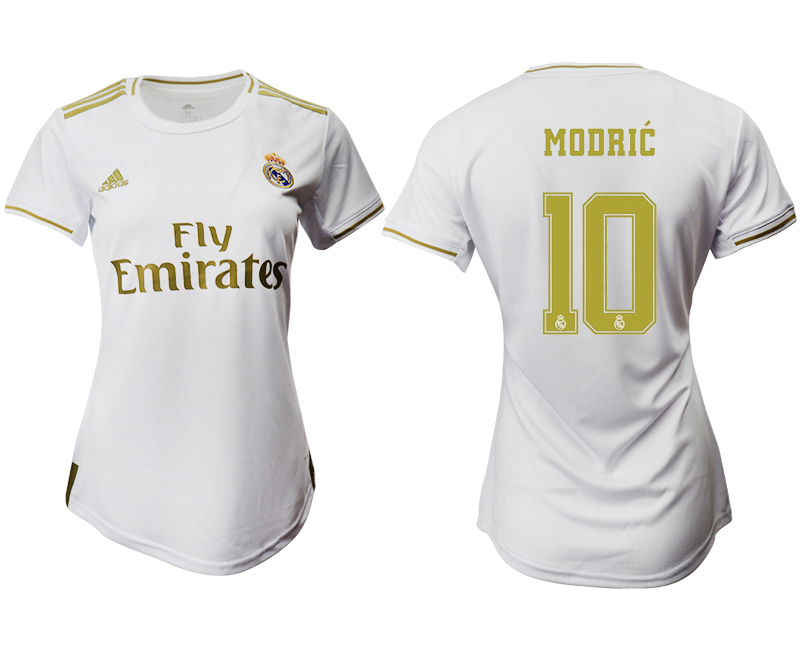 2019-20 Real Madrid 10 MODRIC Home Women Soccer Jersey