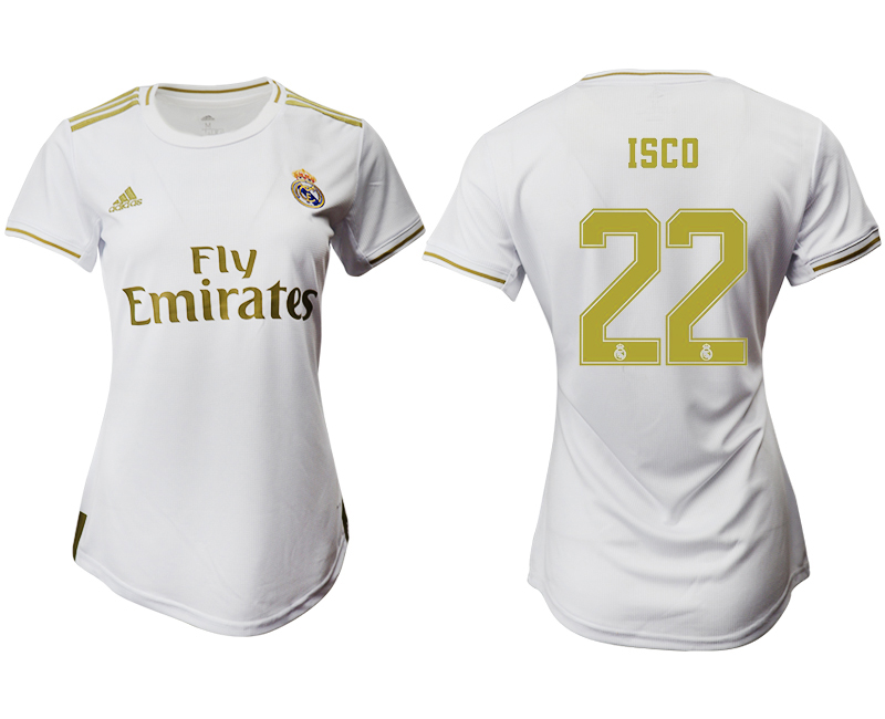 2019-20 Real Madrid 22 ISCO Home Women Soccer Jersey