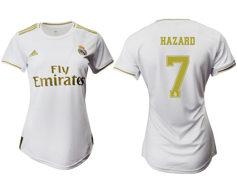 2019-20 Real Madrid 7 HAZARD Home Women Soccer Jersey