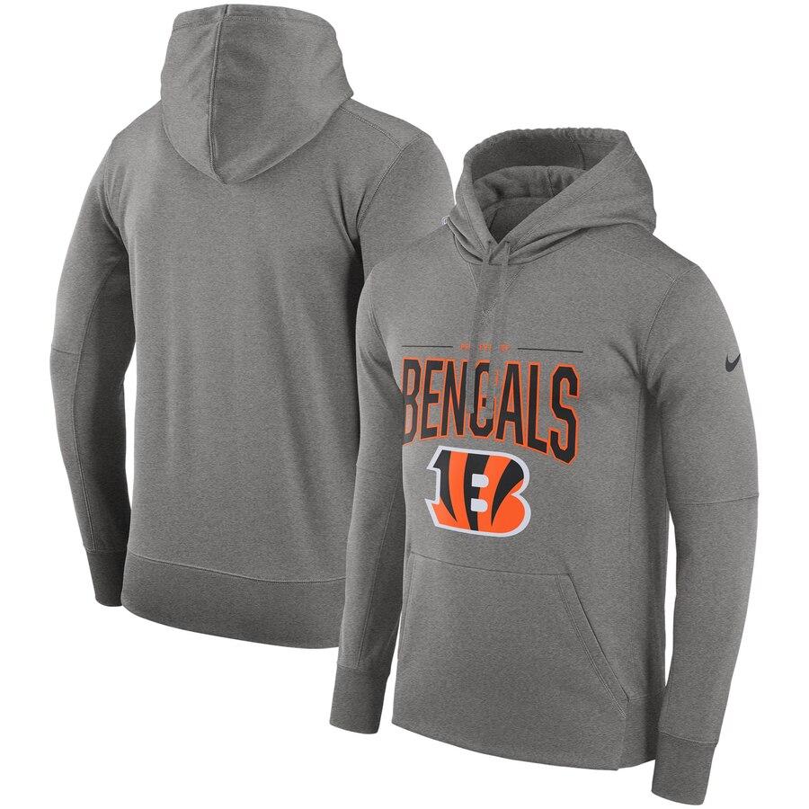 Cincinnati Bengals Nike Sideline Property of Performance Pullover Hoodie Gray
