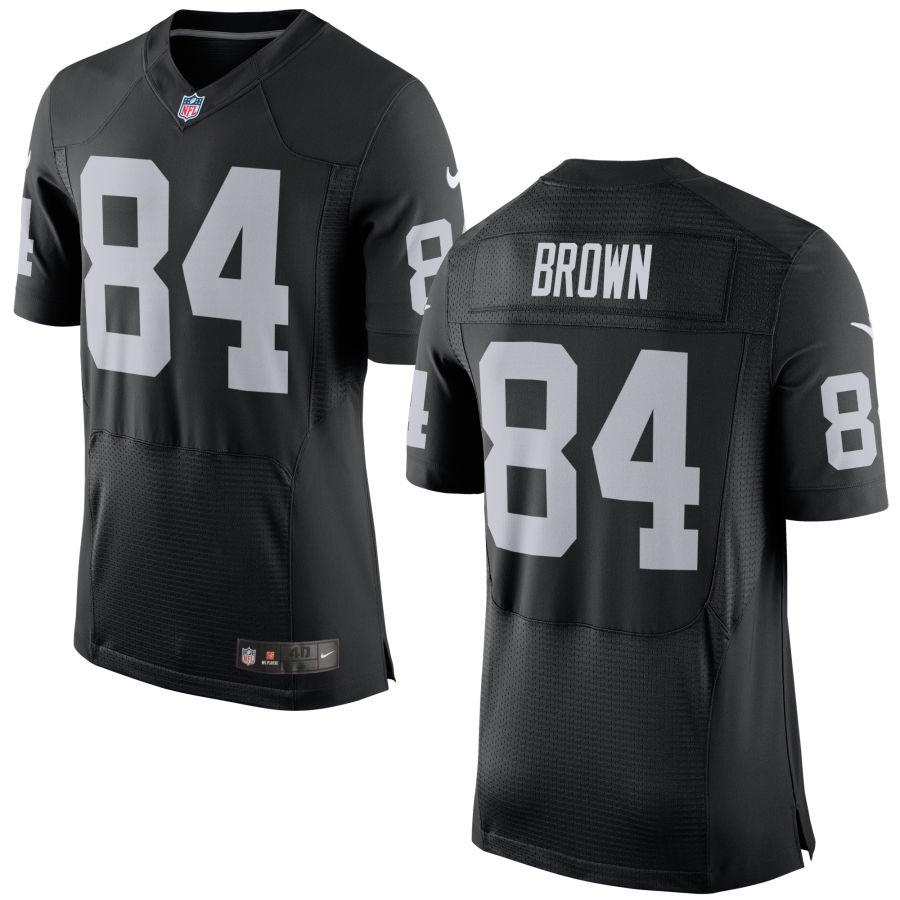 Nike Raiders 84 Antonio Brown Black Elite Jersey