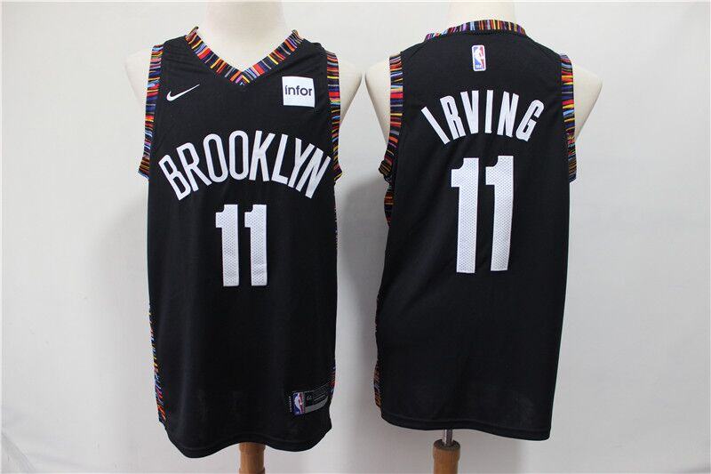 Nets 11 Kyrie Irving Black City Edition Nike Swingman Jersey