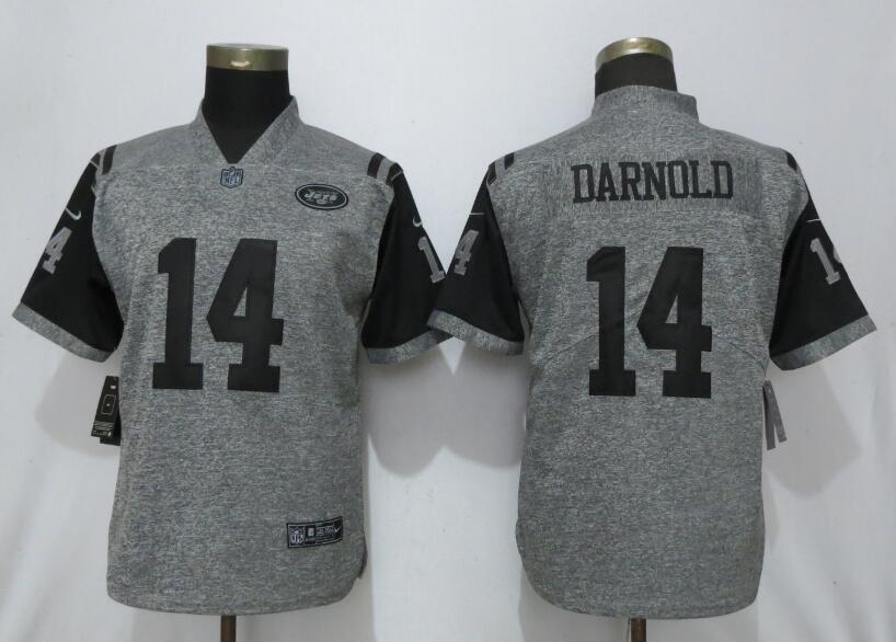 Nike Jets 14 Sam Darnold Gray Gridiron Gray Women Vapor Untouchable Limited Jersey