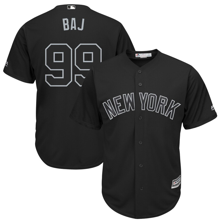 "Yankees 99 Aaron Judge ""BAJ"" Black 2019 Players' Weekend Player Jersey"