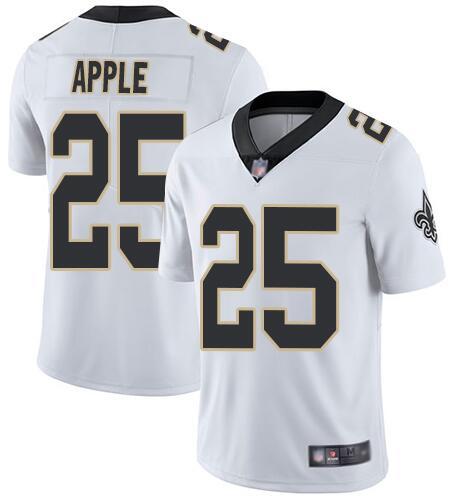 Nike Saints 25 Eli Apple White Vapor Untouchable Limited Jesey