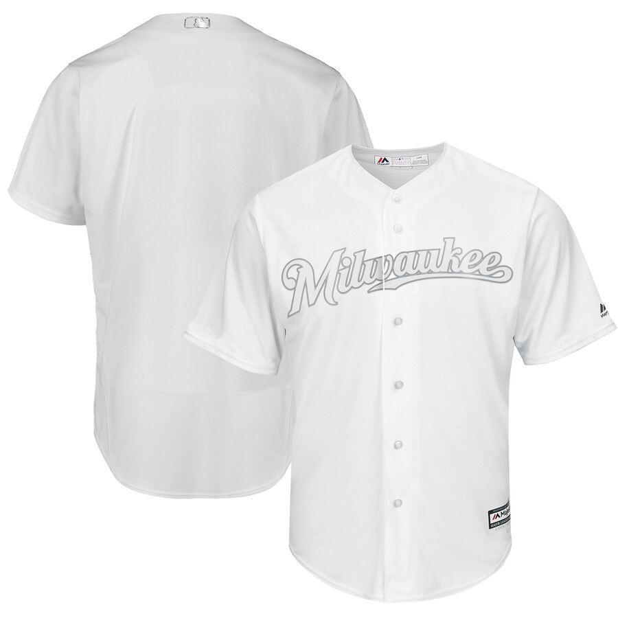Brewers Blank White 2019 Players' Weekend Player Jersey