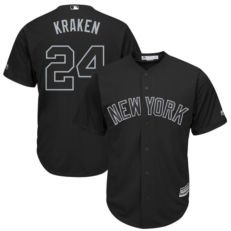 "Yankees 24 Gary Sanchez ""Kraken"" Black 2019 Players' Weekend Player Jersey"