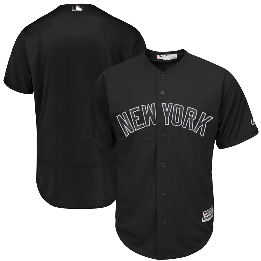 Yankees Blank Black 2019 Players' Weekend Authentic Player Jersey