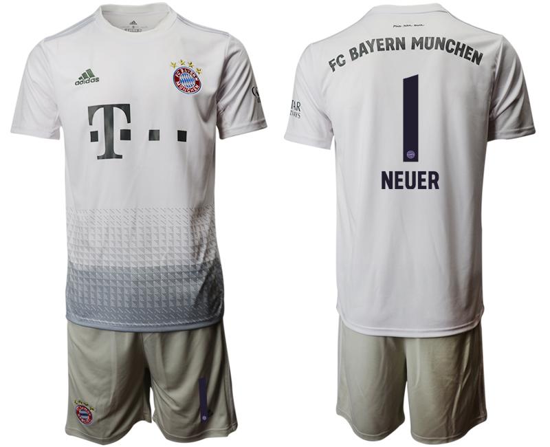2019-20 Bayern Munich 1 NEUER Away Soccer Jersey