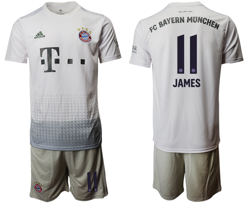 2019-20 Bayern Munich 11 JAMES Away Soccer Jersey