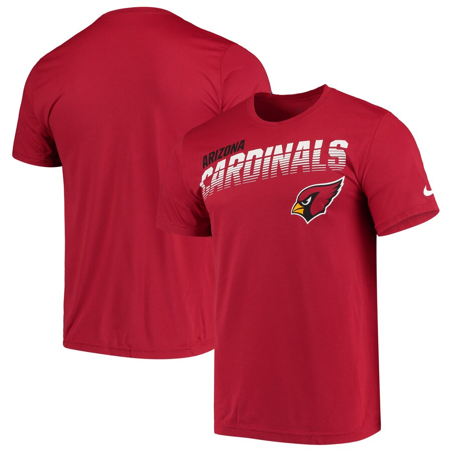 Arizona Cardinals Nike Sideline Line of Scrimmage Legend Performance T Shirt Cardinal