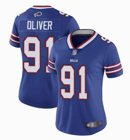 Nike Bills 91 Ed Oliver Royal Women Vapor Untouchable Limited Jersey