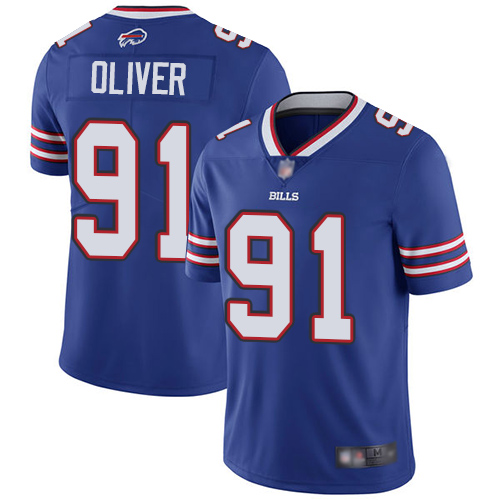 Nike Bills 91 Ed Oliver Royal Youth 2019 NFL Draft First Round Pick Vapor Untouchable Limited Jersey