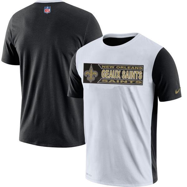 NFL New Orleans Saints Nike Performance T Shirt White