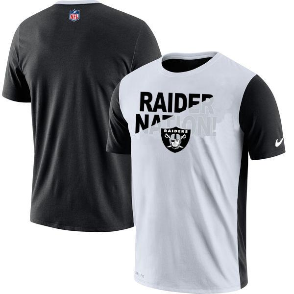 Oakland Raiders Nike Performance T Shirt White
