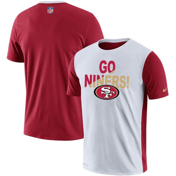 San Francisco 49ers Nike Performance T Shirt White