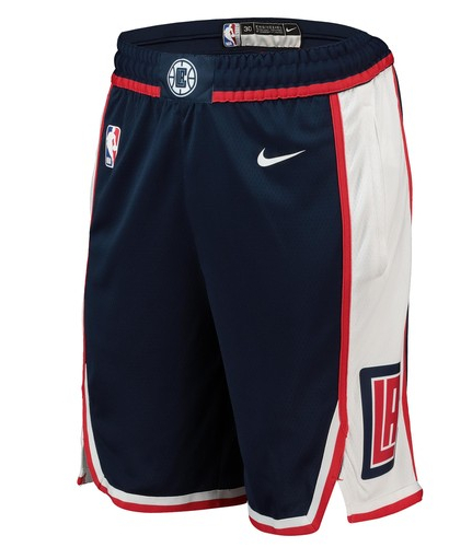 Clippers Navy City Edition Swingman Shorts