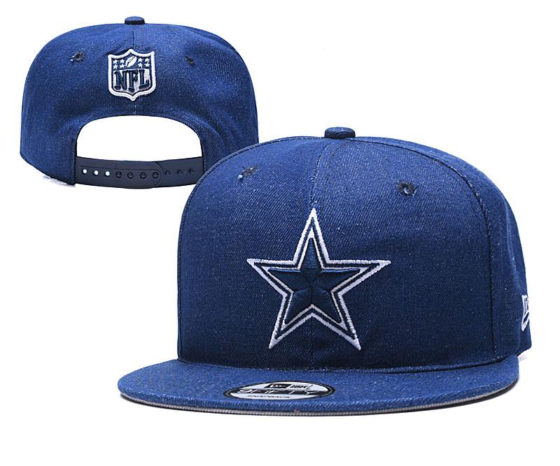Cowboys Team Logo Blue Adjustable Hat YD