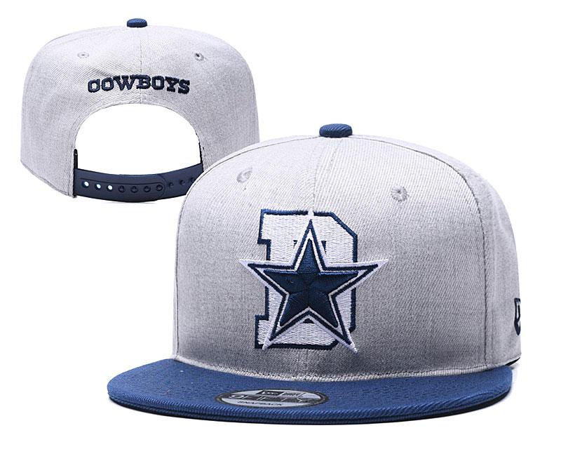 Cowboys Team Logo Gray Blue Adjustable Hat YD