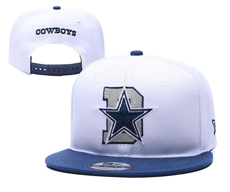 Cowboys Team Logo White Blue Adjustable Hat YD